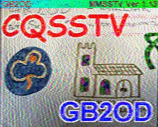 SSTV Image from GB2OD - Feb 2015
