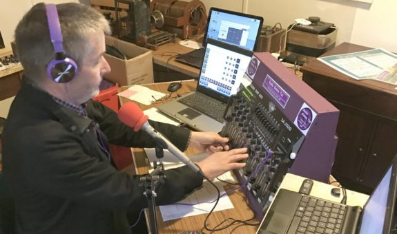 Jim 2E0RMI at the controls of online station Radio Emma Toc