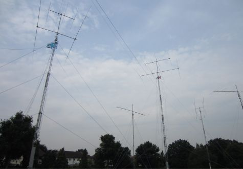 The antenna farm for 2o12L in Greenwich