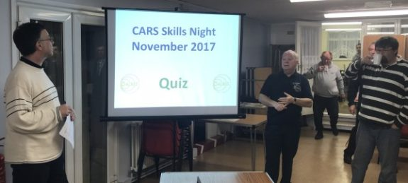 Murray G6JYB and Peter M0PSD at the November 2017 CARS Skills Night
