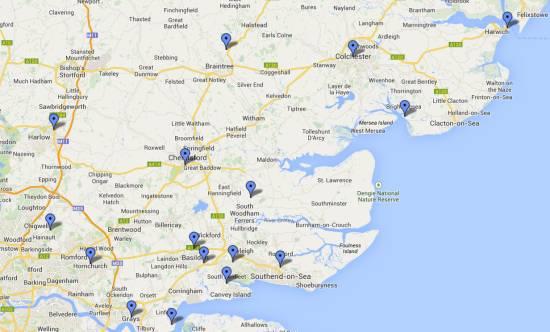 Amateur Radio Clubs in Essex (2014)
