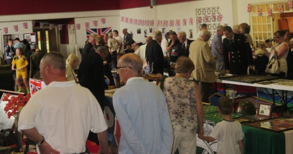Exhibition hall at The Paddocks, Canvey, for Armed Forces Day