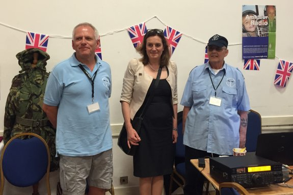 Terry and Brian with Rebecca Harris MP for Armed Forces Day
