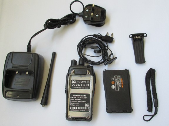 Baofeng BF-888S - box contents