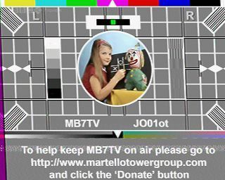 SSTV Testcard from the MB7TV repeater in Clacton, received via a Baofeng