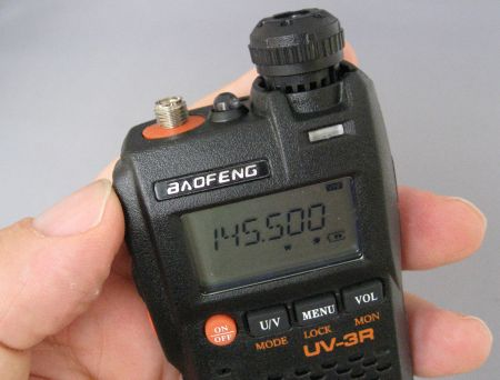 Baofeng UV-3R Top View