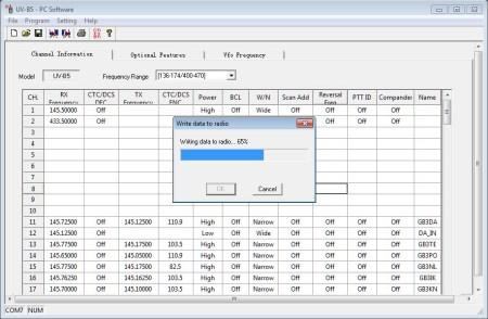 Baofeng UV-B6 PC programming software