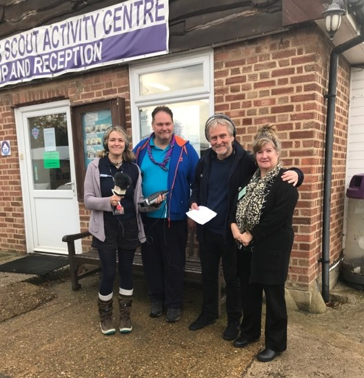 Liana, Derek M0SCE, Barry and Dorothy M0LMR at Belchamps - Oct 2019Barry from the BBC Essex Quest