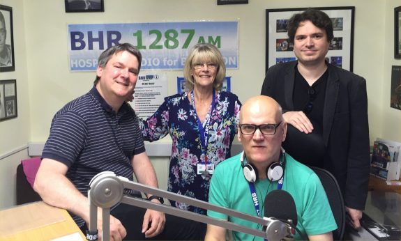 Pete, Jacqui, Alan and Aris at Basildon Hospital Radio - May 2016