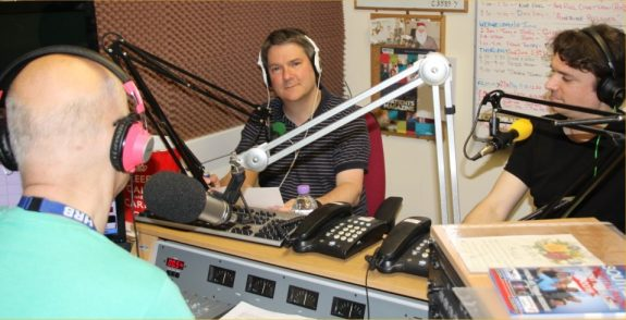 Pete M0PSX being interviewed on Basildon Hospital Radio & Gateway - May 2016
