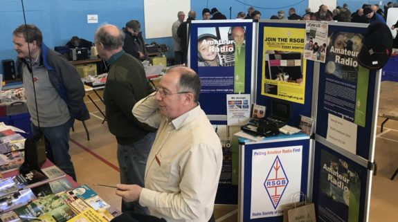 RSGB stand at the BRATS Rainham Radio Rally 2018