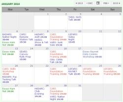 Essex Ham Events - Month View