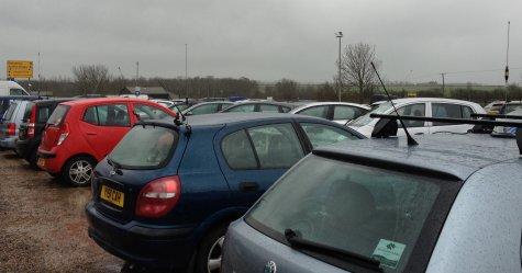 Parking at Cambridge Rally - Lots of aerials