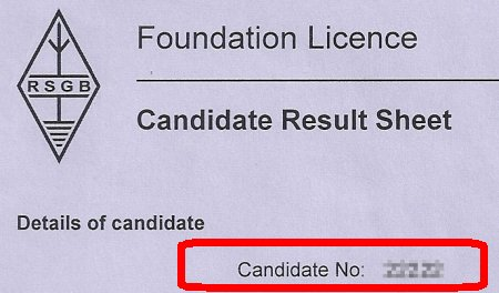 Foundation Pass Candidate Number