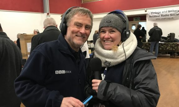 Barry and Liana, from the BBC Essex Quest at the Canvey Rally