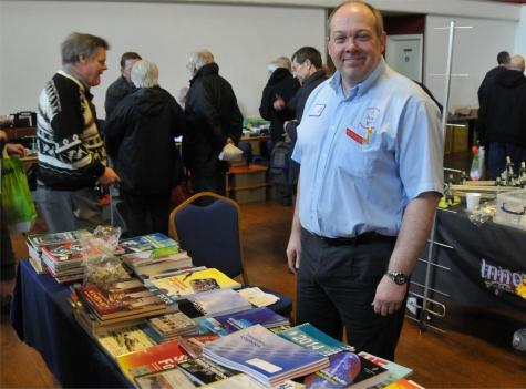 Steve M1ACB, RSGB Deputy Regional Manager for Suffolk on the RSGB bookstall