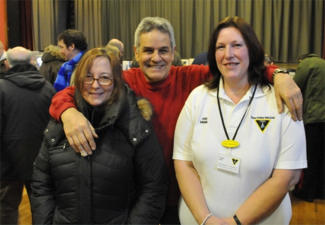 Penny M6ZXB, Clive G1EUC and Ann M6INE