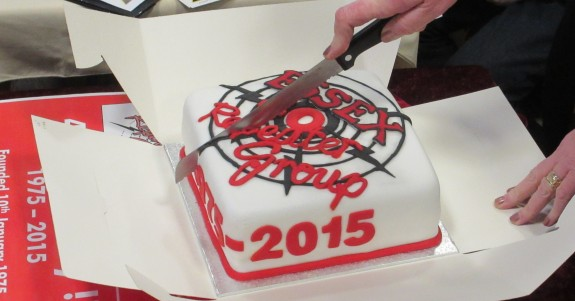 Cutting the ERG 40th Birthday Cake