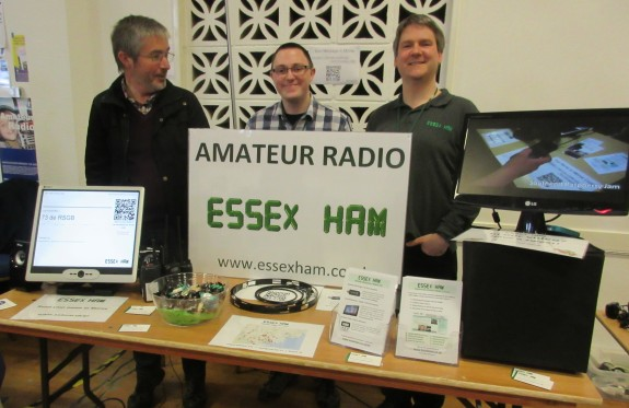 Jim 2E0RMI, Nick 2E0DVX and Pete M0PSX at the Canvey Rally