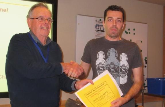 Charlie M0PZT receiving his Constructors award
