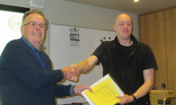 Bruce M0XBS receiving his Constructors award