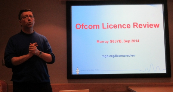 Murray G6JYB talking about proposed licence changes
