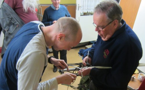Bruce M0XBS fixing a missing radial