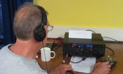 Steve G4ZUL working the live CW station