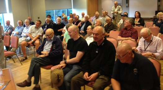 The audience at the Chelmsford Amateur Radio Society's July meeting