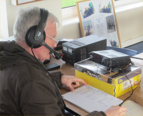 John G1UZD working 12m for the SOS Weekend
