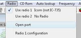 Logger32 Radio Menu
