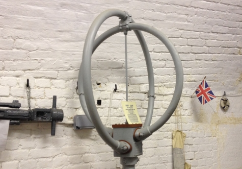 Marconi Type 354N DF antenna on display at Coalhouse Fort