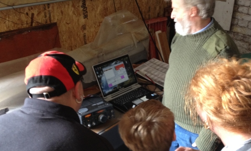 John M1DUC showing live reception of SSTV on 20m at Coalhouse Fort