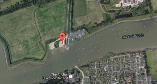 Crouch Festival - Sat image from Google Maps.