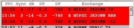 Date Modes: JT65 'short' QSO