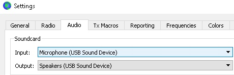 Checking the correct soundcard is being used by your digi-mode software