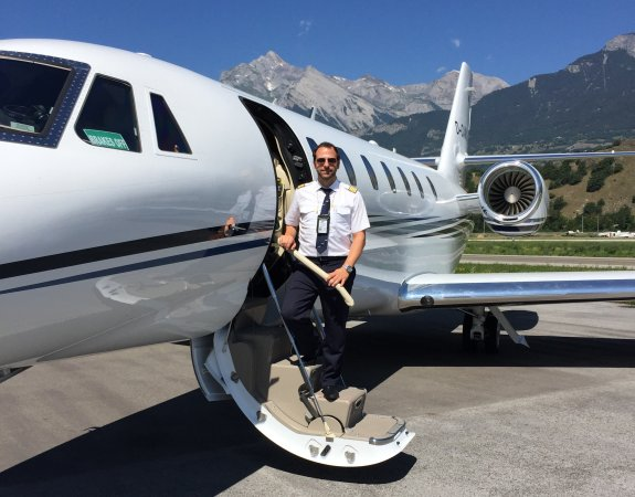 Johannes with the Cessna Citation Sovereign+