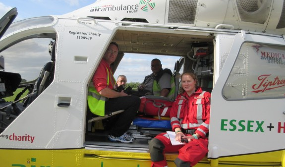 On-board the Essex Air Ambulance