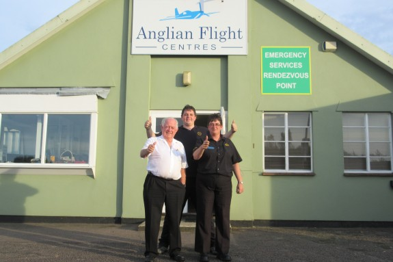 Some of the team at Anglian Flight Centres