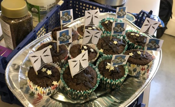Radio-themed cakes, courtesy of Majbritt M6JAX