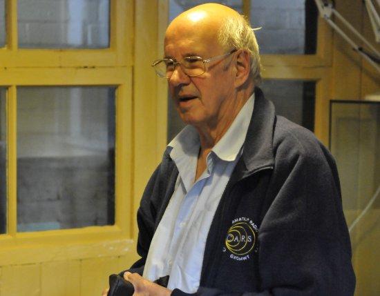John Bowen G8DET, prior to his interview on BBC Essex