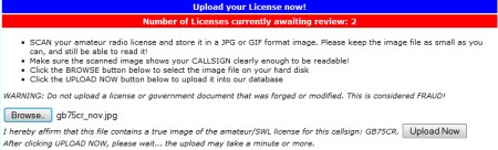 Upload your licence to eQSL for Authenticity Guaranteed