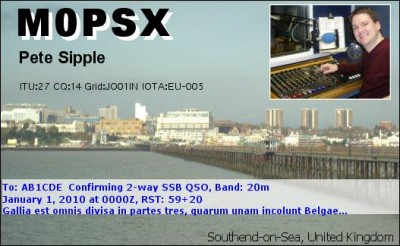 Example of an eQSL card
