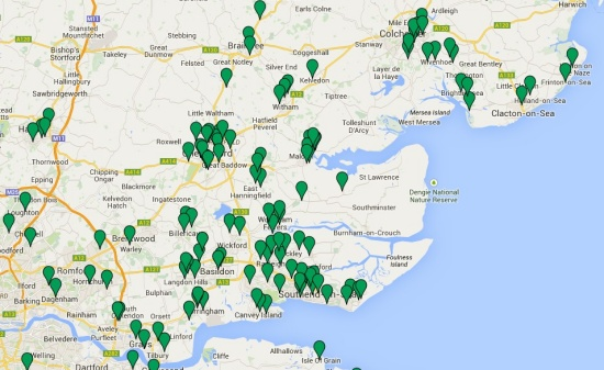Map of Essex Map Members - January 2015