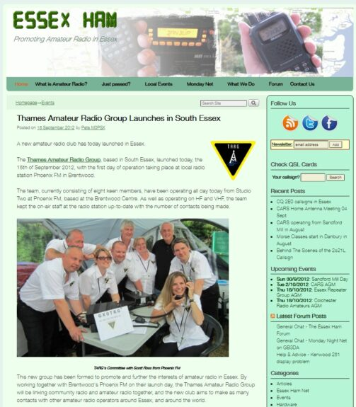 Essex Ham News Archive Sept 2012