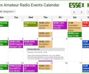 Essex Club Field Event List 2018