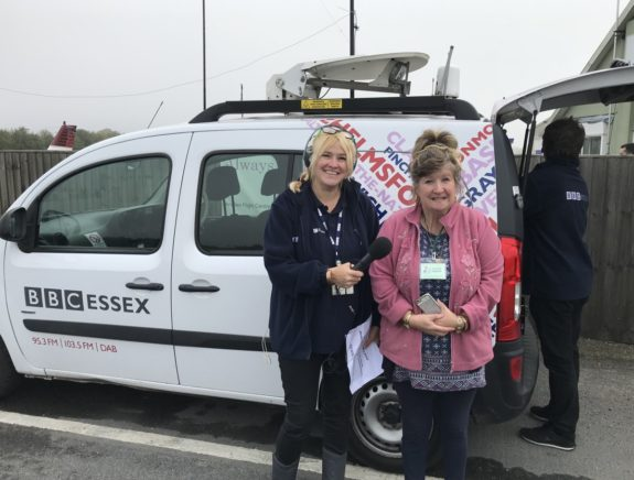 Dorothy M0LMR, with Liana Bridges from the BBC Essex Quest