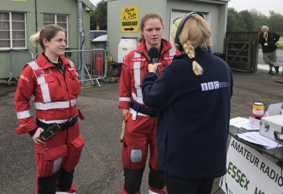 BBC Essex interviewing the crew from the Essex Air Ambulance