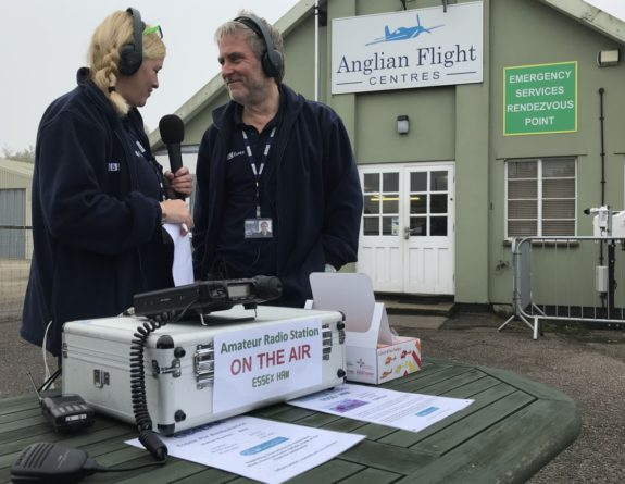 Liana Bridges and Barry Lewis from the BBC Essex Quest at Earls Colne