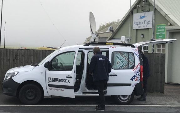 The BBC Essex Quest radio car at Earls Colne Airfield in September 2017